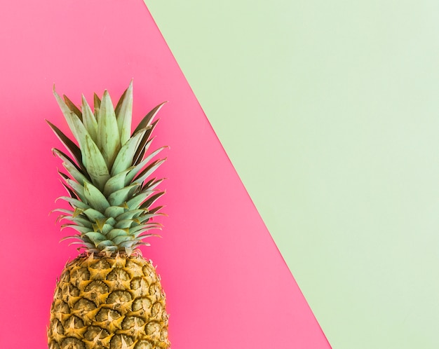 Top view of tropical ripe pineapple Free Photo