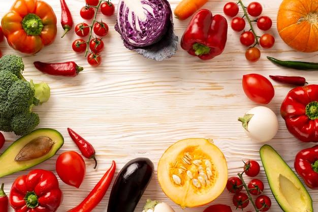 Круглая рамка с овощами Бесплатные Фотографии