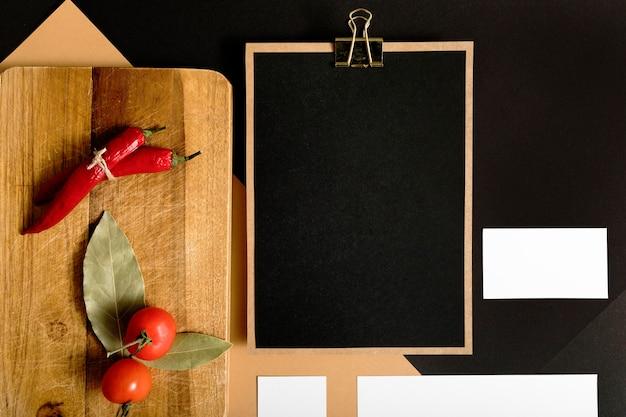 コピースペースを持つ平面図野菜 無料写真