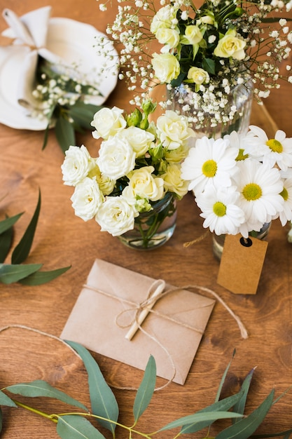 Top view wedding ornaments Free Photo