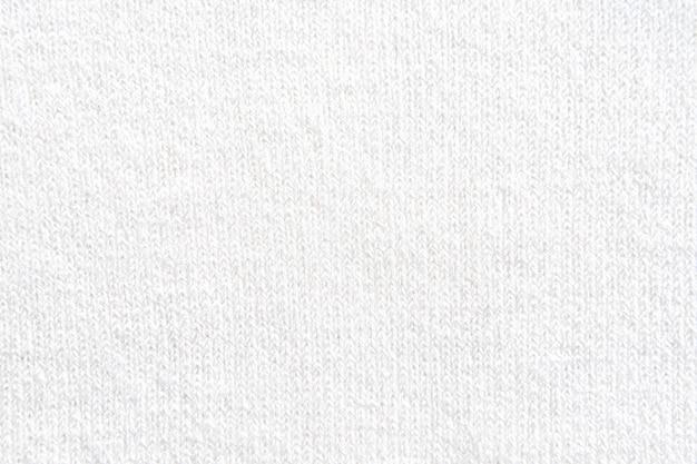 Top view of white knit wear texture Premium Photo