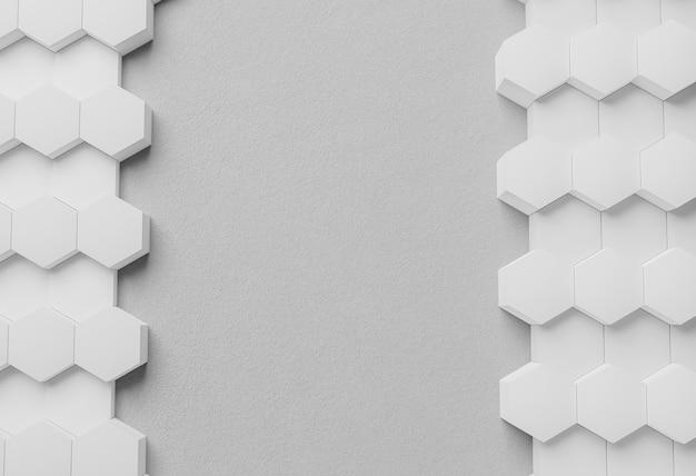 상위 뷰 흰색 현대 기하학적 배경 프리미엄 사진