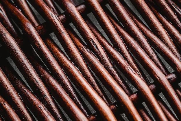 상위 뷰 나무 바구니 배경 무료 사진
