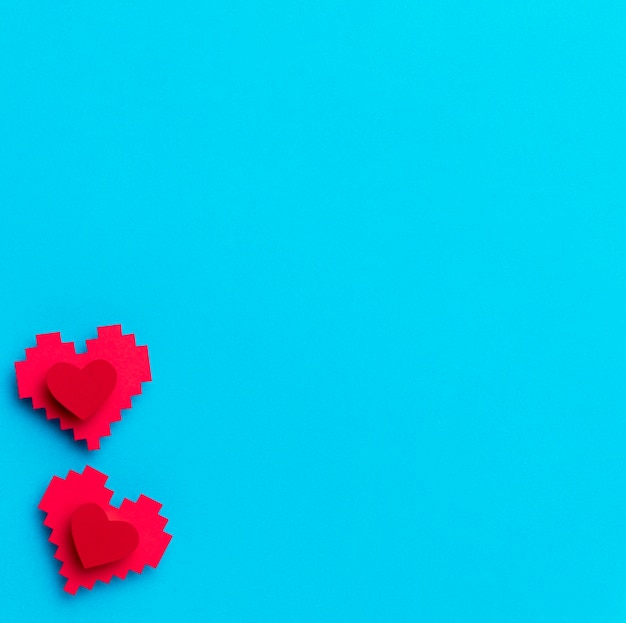 Top view world heart day with copy space Premium Photo