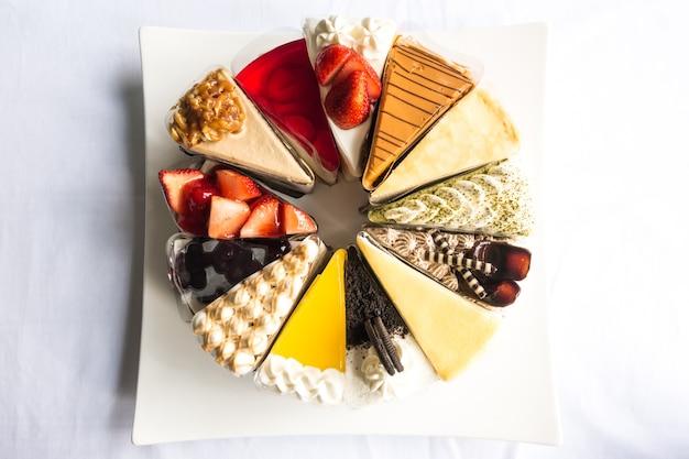 Topdown view of cakes Premium Photo