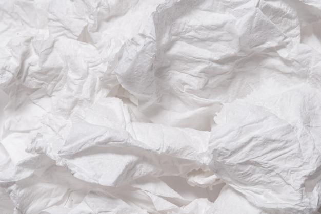 Рваная мятая белая бумага текстурированный фон Premium Фотографии