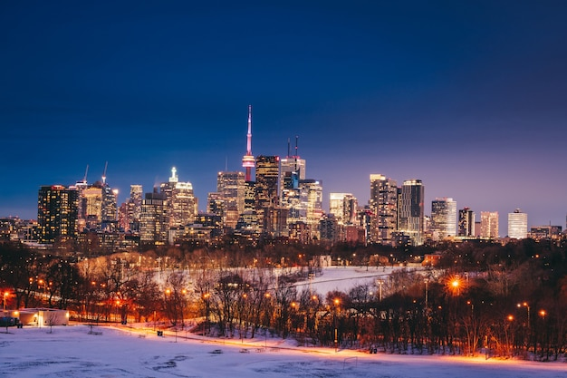 トロントのスカイライン、カナダ Premium写真