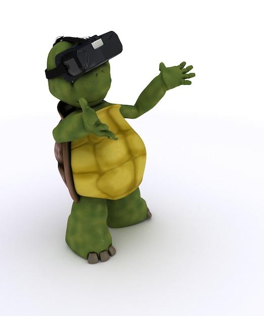 Tortoise si diverte a giocare Foto Gratuite
