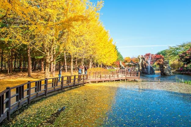 湖の写真を撮る観光客 無料写真