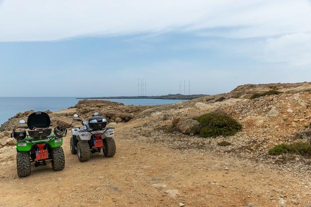 Tourists travel along the azure coast of the mediterranean. Premium Photo