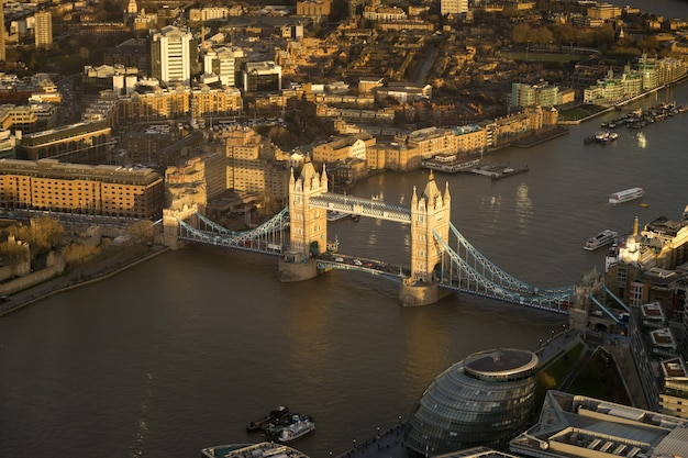 Tower bridge, london, top view Premium Photo