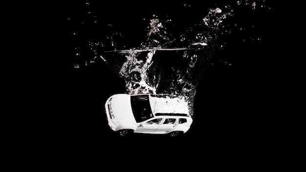 Toy car submerged Free Photo
