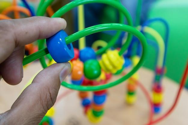 Toy plastic fruit for brain development for children Premium Photo