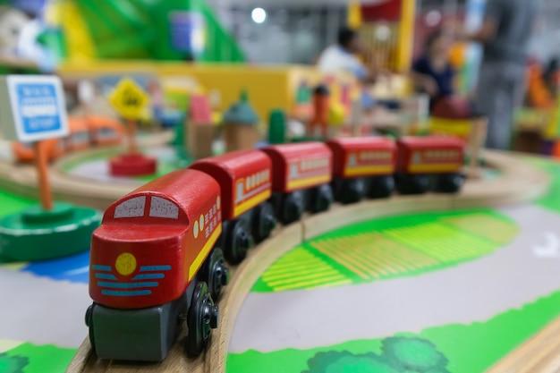 Toy train made of wood for brain development for children Premium Photo