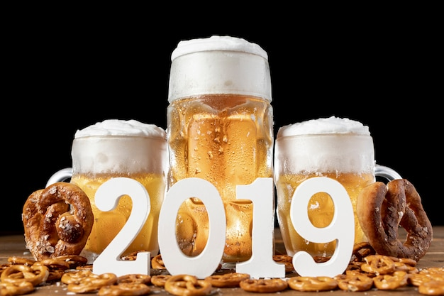 Tradition bavarian beer and pretzels 2019 Free Photo