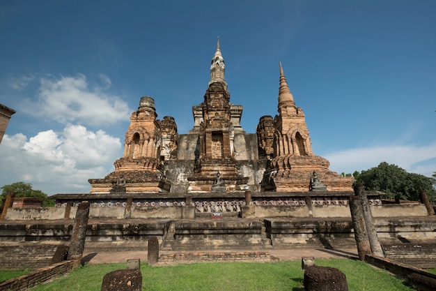 Traditional antique temple sukhothai thailand Free Photo