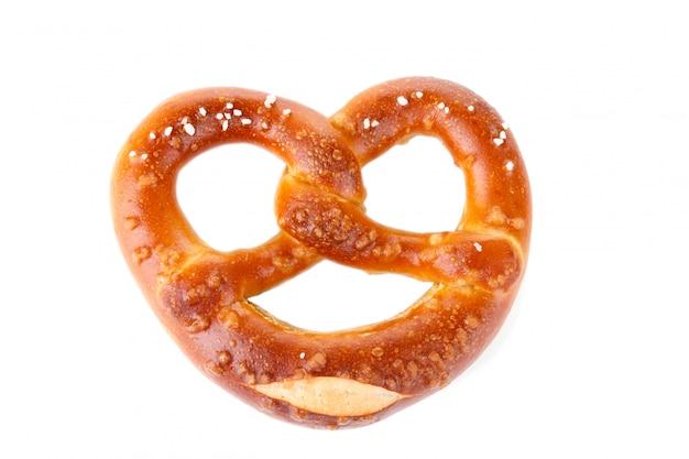 Traditional bavarian salty pretzel Premium Photo