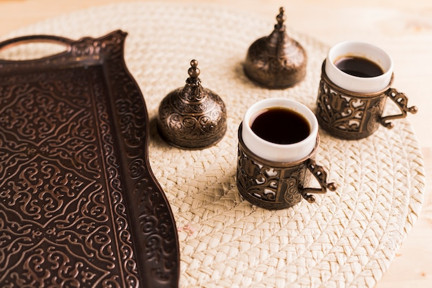 Traditional eastern coffee set Free Photo