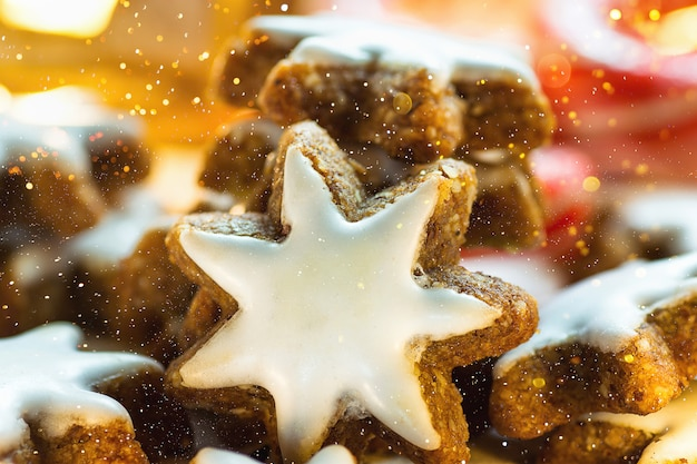 Traditional German Christmas Cookies Home Baked Glazed Cinnamon