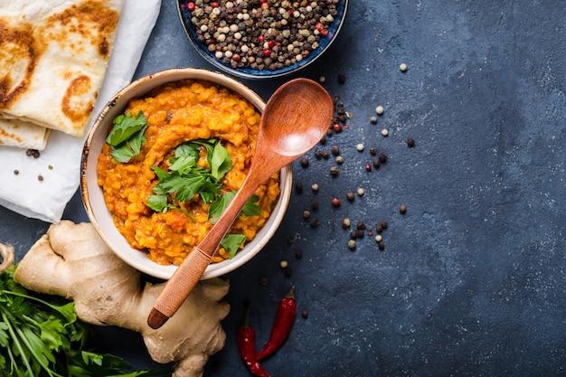 Traditional indian lentils dal Premium Photo