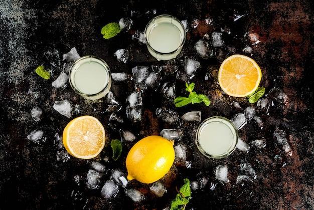 Traditional italian alcoholic homemade beverage Premium Photo