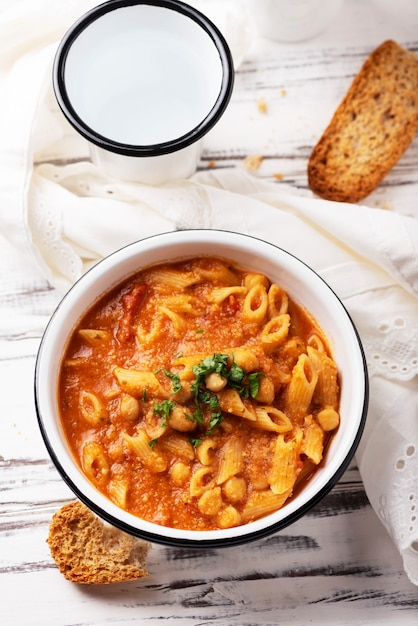 Traditional italian dish pasta, selective focus Premium Photo