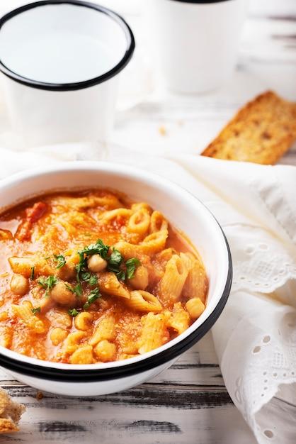 Traditional italian pasta dish Premium Photo