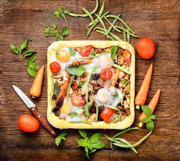 Traditional italian pizza Premium Photo