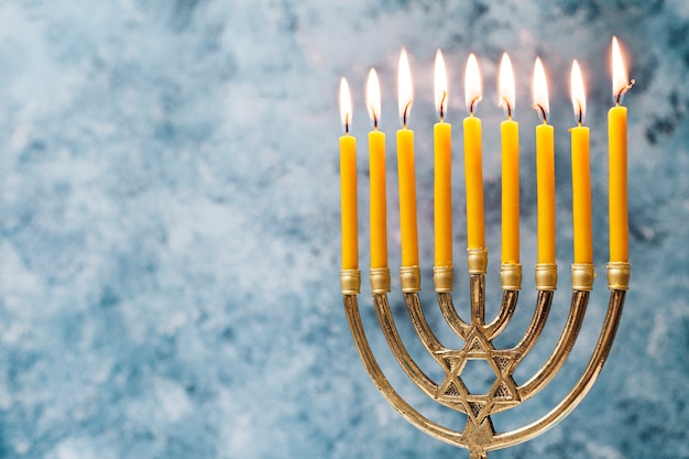 Traditional jewish candlestick holder Free Photo