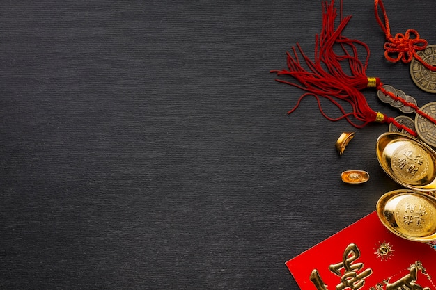 Traditional new year chinese objects Free Photo