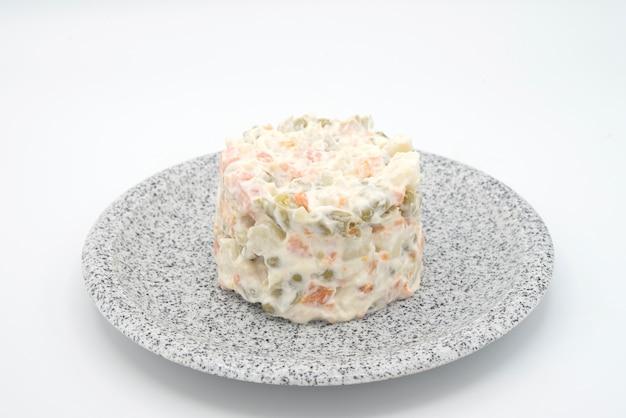 Traditional salad, olivier Premium Photo