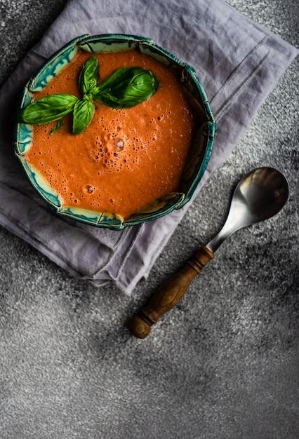 Traditional spanish gazpacho Premium Photo