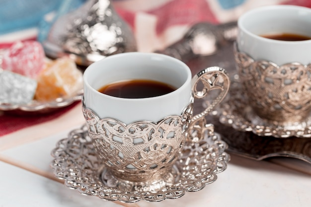 Traditional turkish coffee Premium Photo