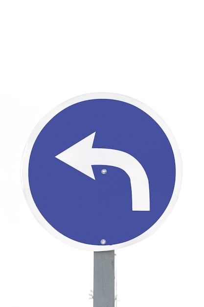 Traffic arrow sign only left Free Photo