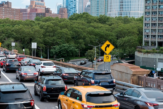 Traffic jam in the city Free Photo