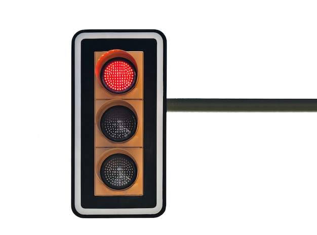 Traffic lights with red Premium Photo