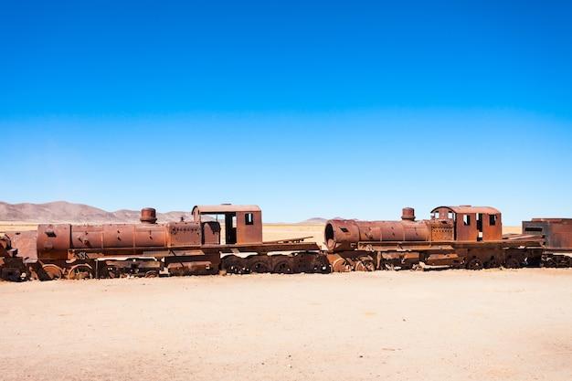 Train cemetery, bolivia Premium Photo