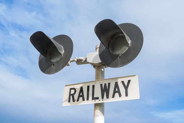 train direction wait red semaphore Premium Photo