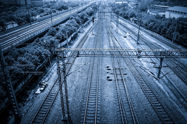 Train tracks Free Photo