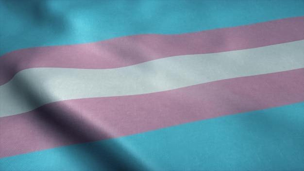 Флаг сообщества прайд трансгендеров Premium Фотографии