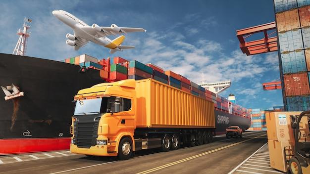 Транспорт и логистика. Premium Фотографии