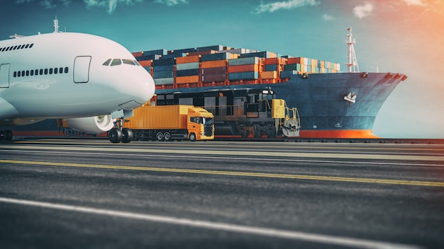 Transportation and logistics. Premium Photo
