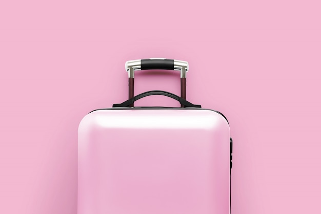 Travel & airplanewith the luggage Premium Photo