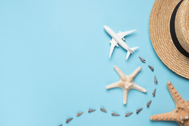 Concetto di viaggio e spiaggia Foto Gratuite