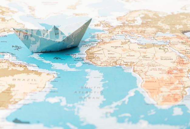 Travel concept with world map Premium Photo