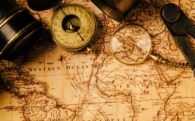 Travel geography navigation Premium Photo