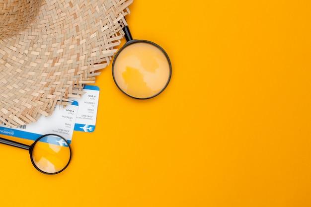Travel planning concept background Premium Photo