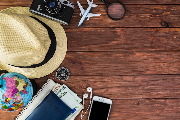 Travel planning for holiday vacation Free Photo