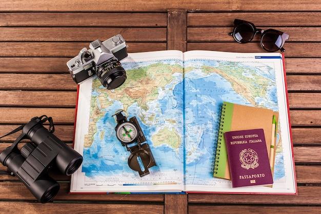 The travel planning Premium Photo
