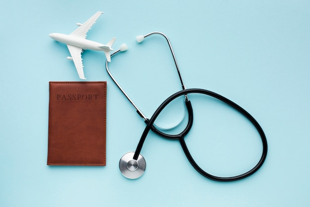 Travelling medical insurance with airplane Free Photo